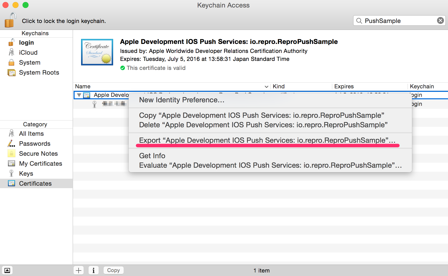 Push notification for ios repro documentation convert certificate to p12 format 1betcityfo Image collections